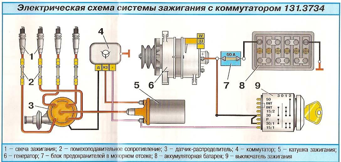 Схема подключения коммутатора и вариатора